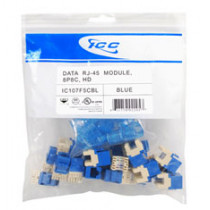 ICC IC107F5CBL CAT 5e, HD, 25 PK Modular Connector, Blue