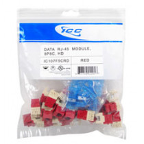 ICC IC107F5CRD CAT 5e, HD, 25 PK Modular Connector, Red