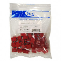 IC107F6CRD CAT 6 HD JACK 25 PACK, Red
