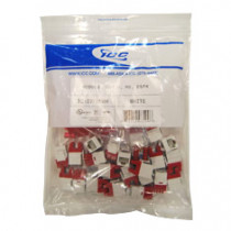ICC IC107F6CWH CAT 6 HD JACK 25 PACK, White