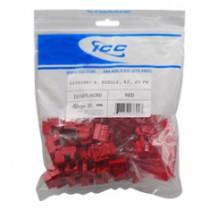 ICC IC107L6CRD CAT 6, EZ, 25 PK, Modular Connector, Red