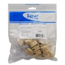 ICC IC1076FCIV MODULE, VOICE, RJ-11/14/25, HD, 25 PK, Ivory