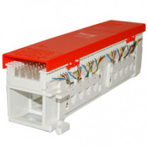 ICC IC06686P6C 66 Wiring Block, 8-Jacks, 6P6C