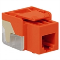 ICC IC1076V0OR VOICE, RJ-11/14/25, EZ Modular Connector, Orange