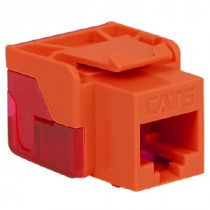 ICC IC1078L6OR CAT 6 EZ Modular Connector, Orange
