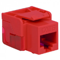 ICC IC1078L6RD CAT 6 EZ Modular Connector, Red