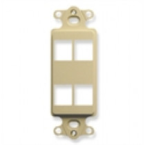 ICC IC107DI4IV INSERT, DECOR, 4-PORT, Ivory HD
