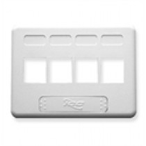 ICC IC107FN4WH FACEPLATE, FURNITURE NEMA, 4-PORT, White
