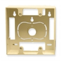 ICC Mounting Box, 2-Gang, Ivory