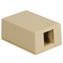 ICC Surface Mount Box, 1-Port, Ivory