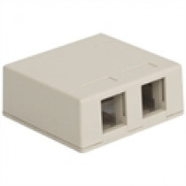 ICC Surface Mount Box, 2-Port, White