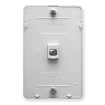 ICC Wall Plate, Telephone, 6P6C, White