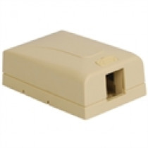ICC Surface Mount Box, Elite, 1-Port, Ivory