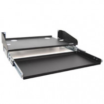 """ICC ICCMSRKLST 10"""" Deep LCD Monitor Shelf, Sliding Keyboard Tray, 3 RMS"""