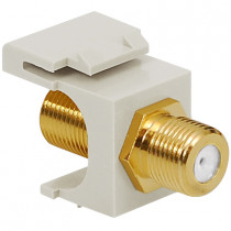 ICC IC107B5GWH F-TYPE, GOLD PLATED, 2GHz, White