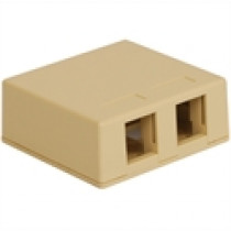 ICC Surface Mount Box, 2-Port, Ivory