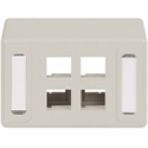 ICC IC108UF4WH FACEPLATE, FURNITURE UNIV, 4-PORT, White