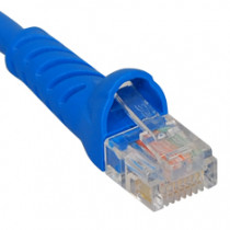 ICC ICPCSK01BL CAT6 Molded Boot Patch Cord 1' Blue