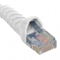 ICC ICPCSJ01WH Patch Cord, Cat5e Molded Boot 1' White
