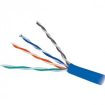 CAT6e PVC Blue 600 MHz 4 Pair Wire Wavenet