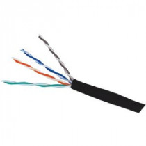 CAT6e PVC Black 600 MHz 4 Pair Wire Wavenet