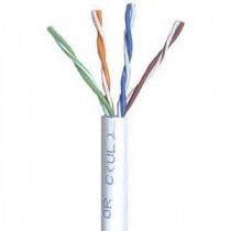 CAT6e PVC White 600 MHz 4 Pair Wire Wavenet