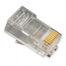 ICMP8P8SRD, 8P8C, Oval Entry Solid, 100Pk