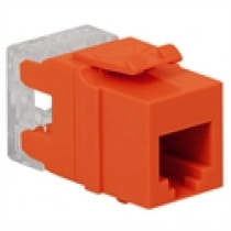 ICC IC1076F0OR VOICE, RJ-11/14/25, HD, Modular Connector, Orange