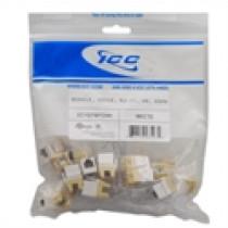 ICC IC1076FCWH MODULE, VOICE, RJ-11/14/25, HD, 25 PK, White
